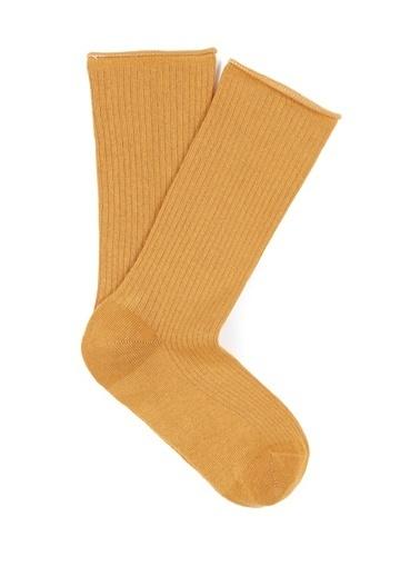 Mavi Uzun Çorap Sarı